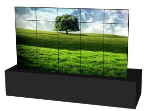 Steglose Videowand 5x5 aus 46 Zoll Displays mieten