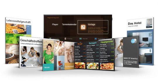 Samsung DME-Serie Homescreen
